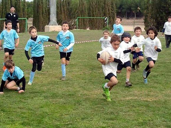 200 ni+¦os y ni+¦as en el II Campeonato de Escuelas de Rugby FERRMUR disputado en Las Torres de Cotillas 2