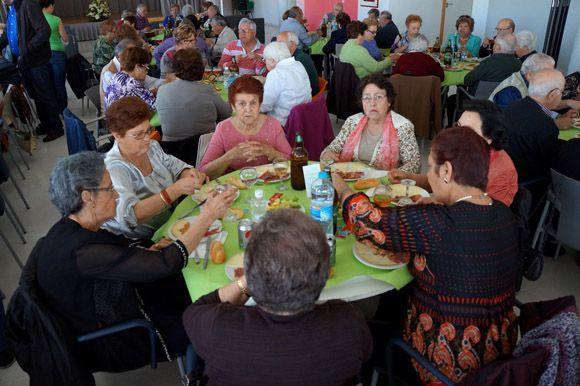 Comida convivencia - Semana Cultura centro mayores Las Torres de Cotillas