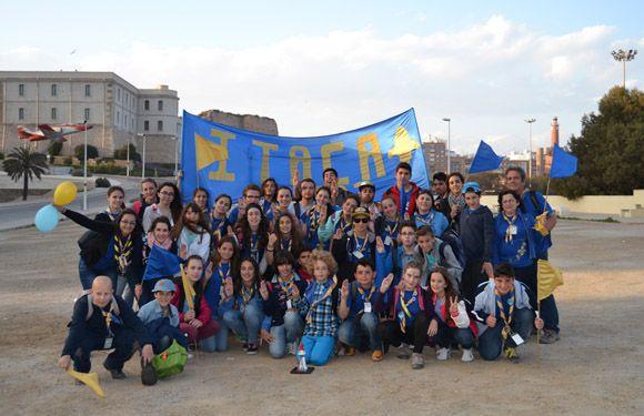 El grupo +ìtaca torre+¦o mejor animaci+¦n del festival regional de canci+¦n scout2