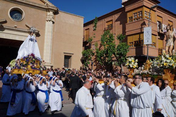 El j+¦bilo y el alborozo presiden el Domingo de Resurrecci+¦n de Las Torres de Cotillas