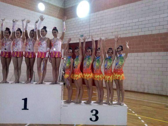Las gimnastas torre+¦as firman un espl+®ndido papel en Los Alc+ízares infantiles