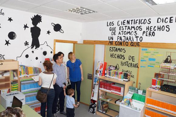 El colegio Joaqu+¡n Cantero torre+¦o estrena biblioteca2