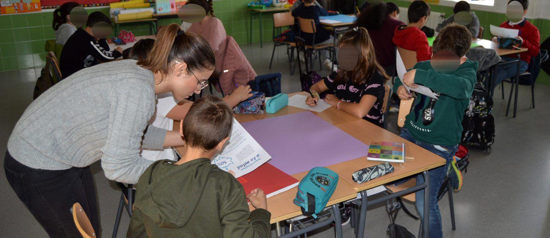 Alumnos de 4º y 5º de Primaria participan en una campaña de sensibilización medioambiental