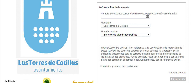 El Ayuntamiento estrena una herramienta online para comunicar incidencias sobre el alumbrado público