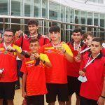 Los juveniles del club petanca La Salceda campeones de España de tripletas