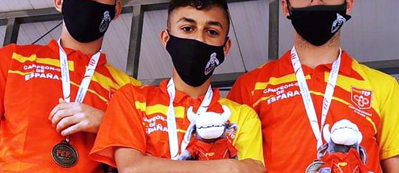 Los juveniles del club petanca La Salceda campeones de España de tripletas3