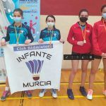 1ª Sofía Meroño y Claudia Teruel Bádminton Las Torres dobles femenino sub 15 TTR Aspe