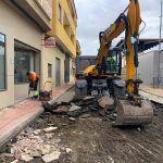 Comienzan las obras de adecuación del entorno de la calle Bartolomé Ródenas