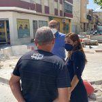 Las obras de adecuación del entorno de la calle Bartolomé Ródenas a buen ritmo