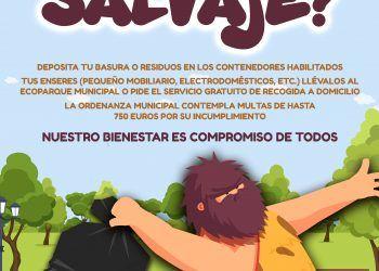 Cartel ERES UN SALVAJE Las Torres de Cotillas