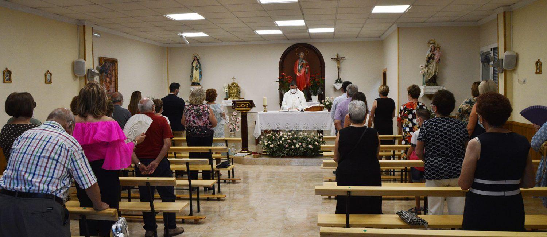 Los vecinos de La Loma despidieron con una misa las fiestas de San Joaquín
